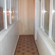 ремонт балкона с утеплением стены ПВХ