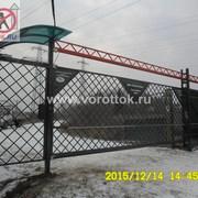 """Откатные ворота для коттеджного поселка """"Сеченка парк"""""""