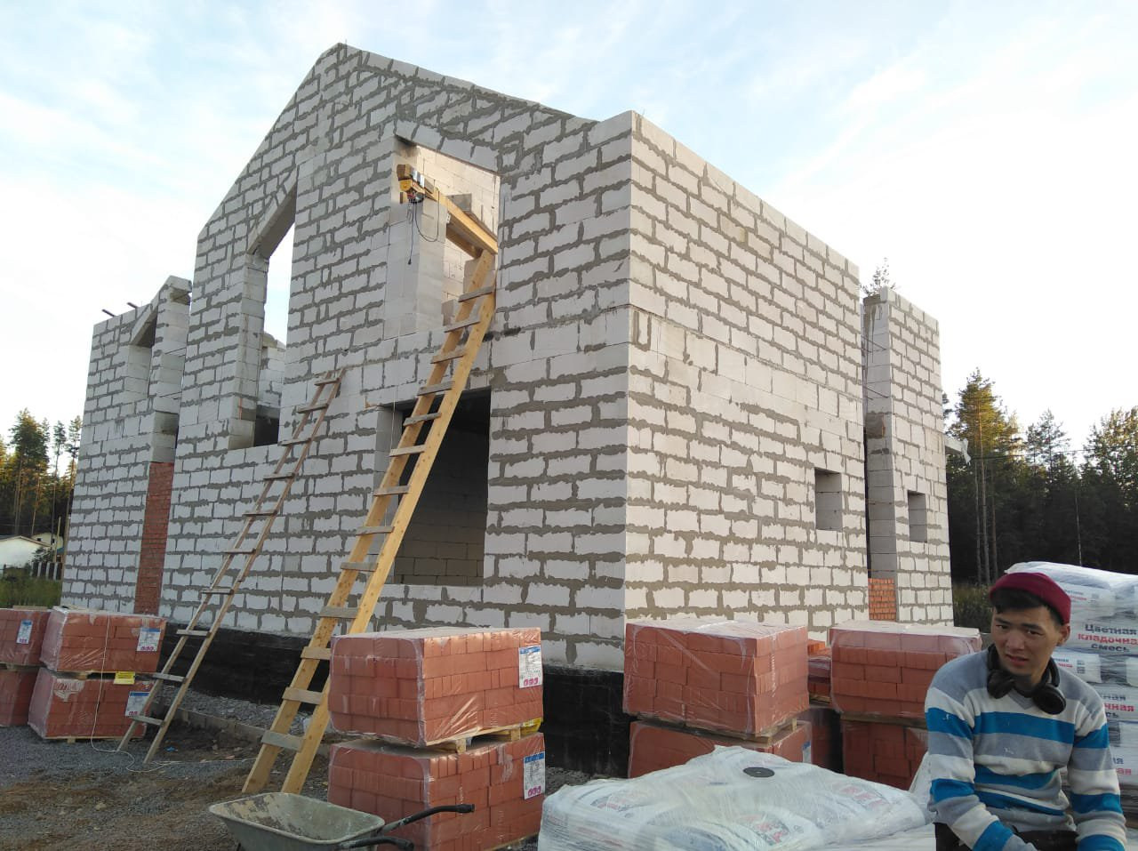 Строительство домов и коттеджей. Строительство дома п. Рощино