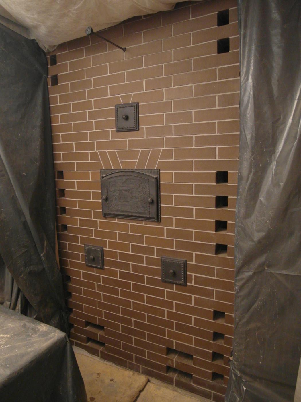 Услуги каменщиков. Банная печь в Зеленогорске