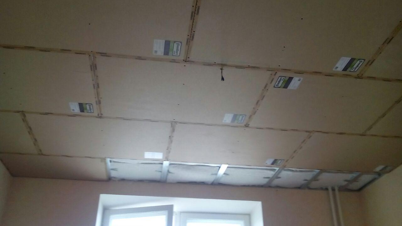 Изоляционные работы. Звукоизоляция потолка