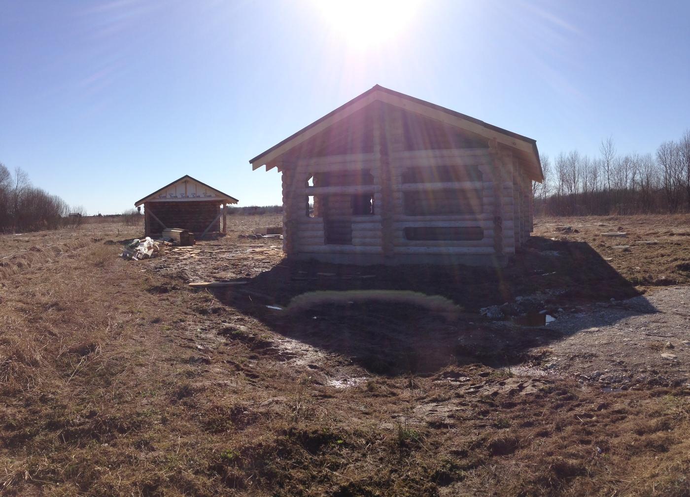 Строительство срубов. Дом и баня из бревна д.Теремец