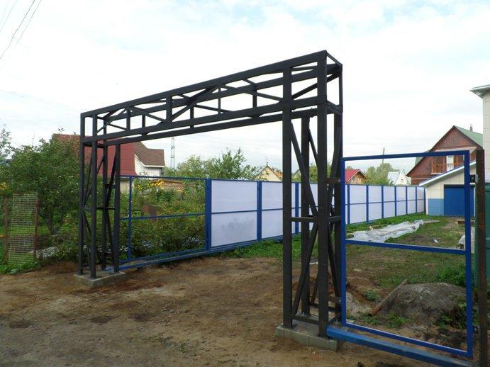 Монтаж металлоконструкций. Ворота ролетные 4,5*2,7м
