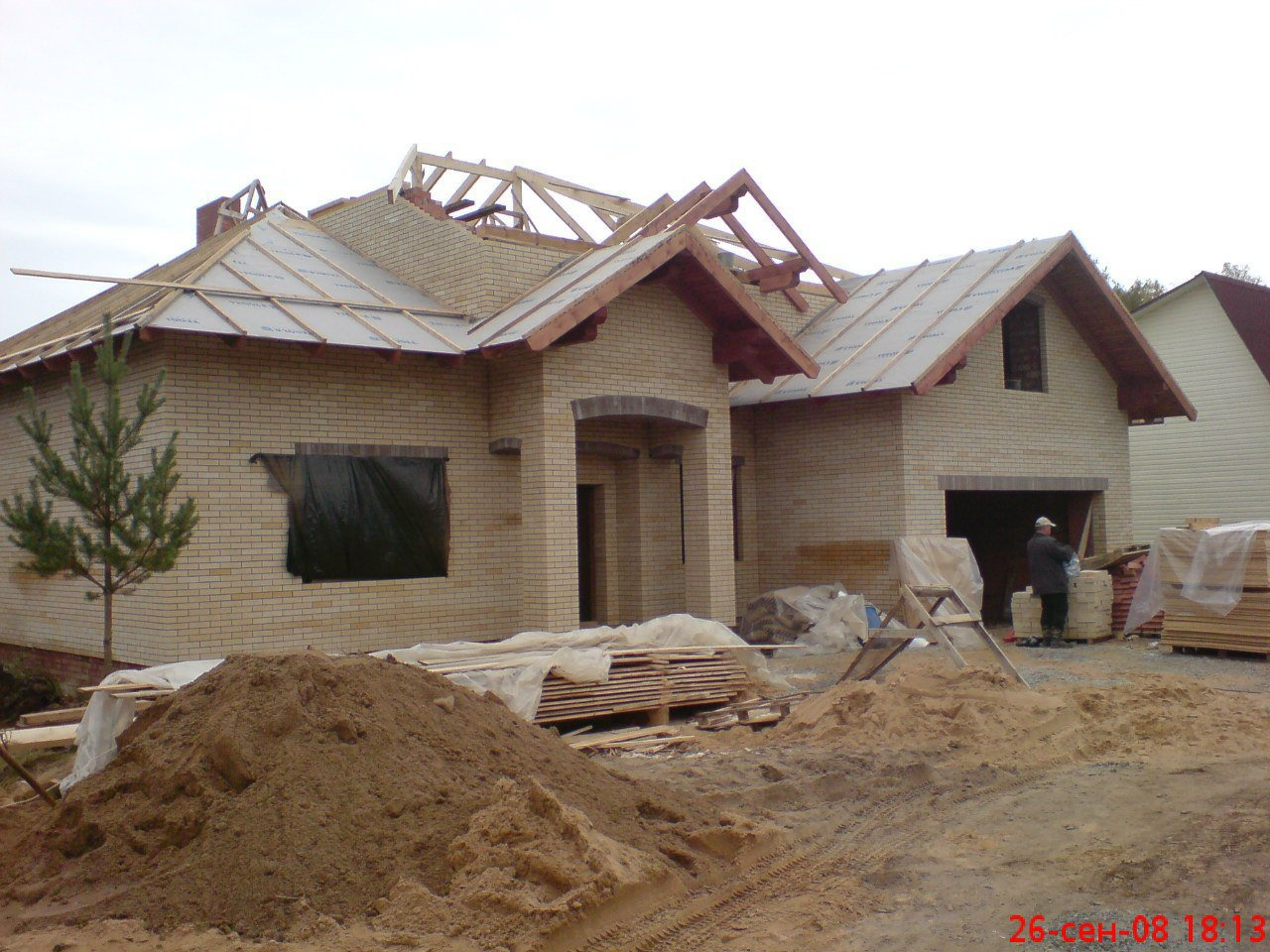 Строительство домов и коттеджей. Дом недалеко от Зеленогорска