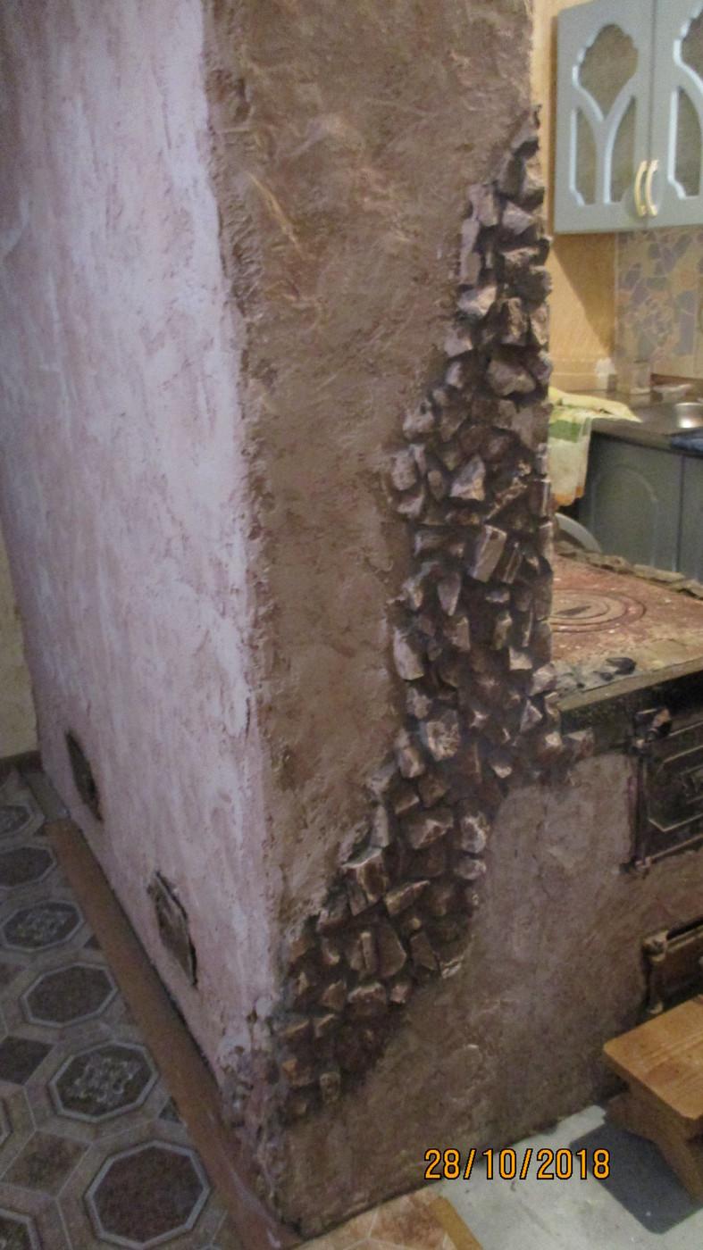 Плитка и мозаика. Кухня в частном доме