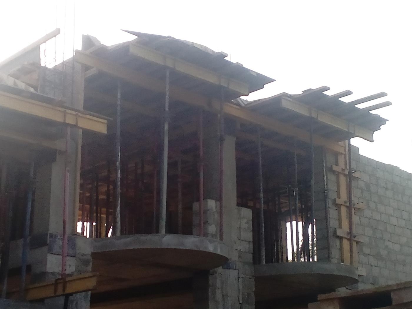 Строительство стен и перегородок. Гостиница