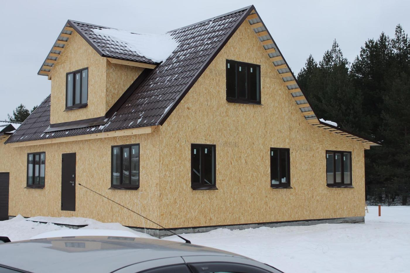 Строительство домов и коттеджей. Каркасный дом 10х14