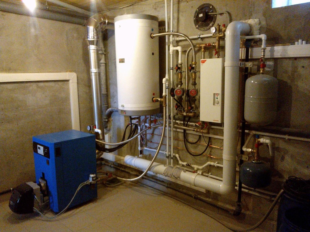 Отопление, водоснабжение и канализация. Система отопления_250 кв.м