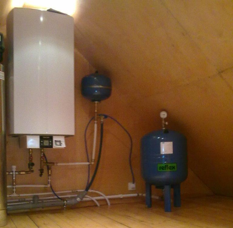Отопление, водоснабжение и канализация. Система отопления_200 кв.м