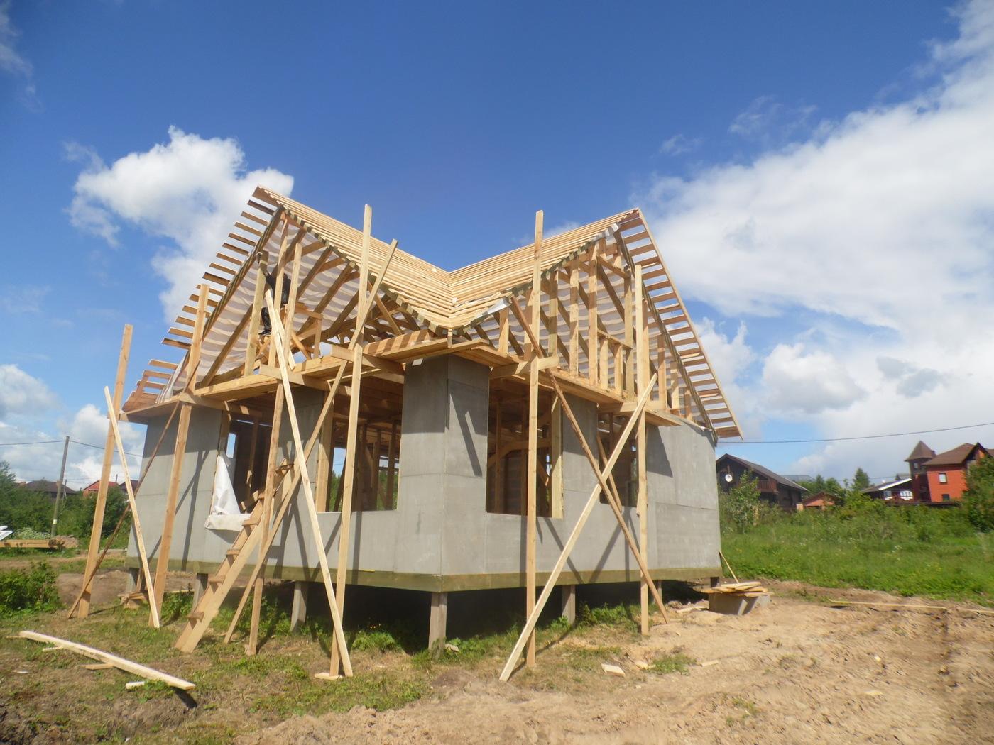 Строительство домов и коттеджей. Строительство каркасного дома под Череповцом