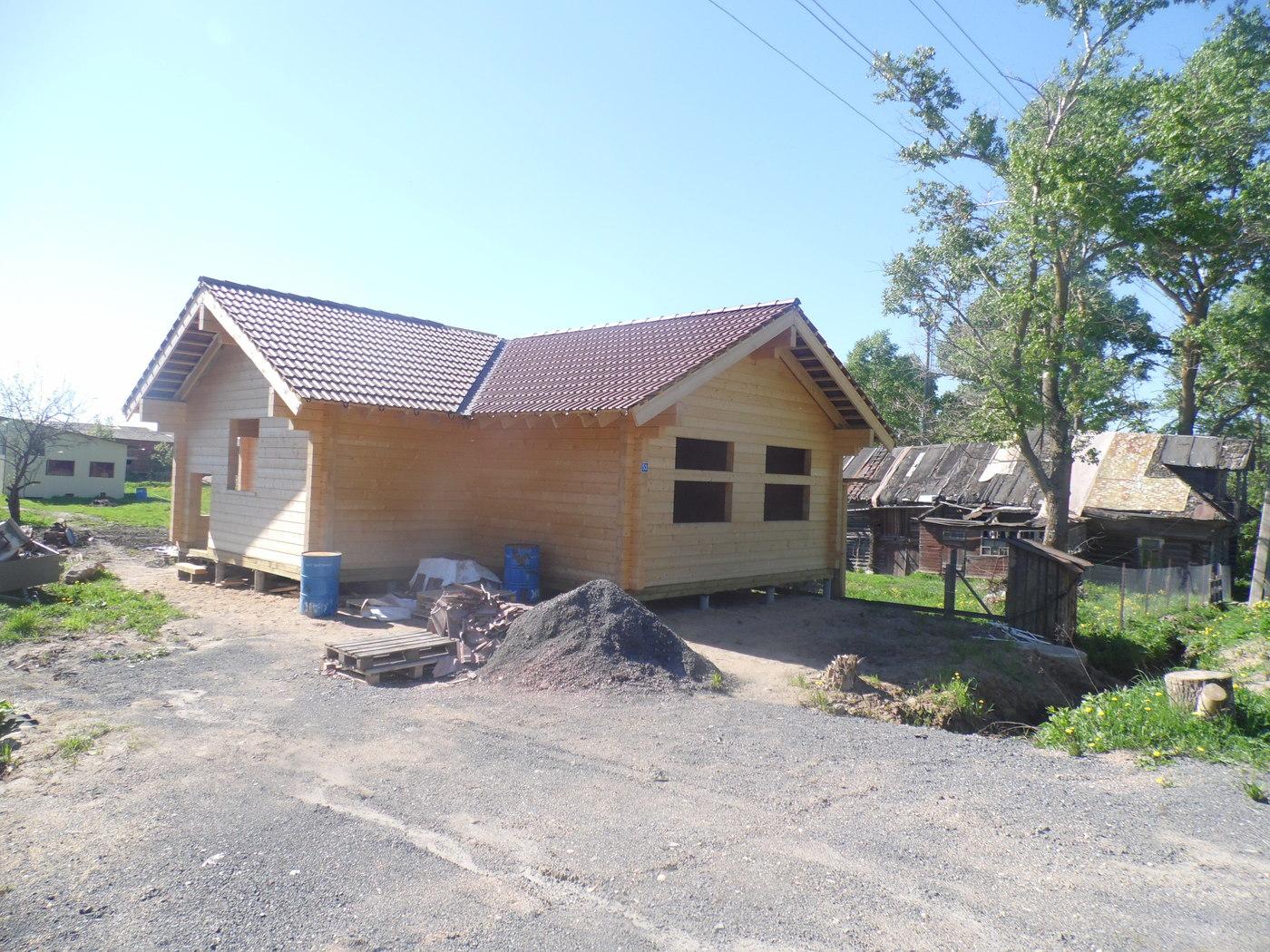 Строительство домов и коттеджей. Строительство дома из клеенного бруса