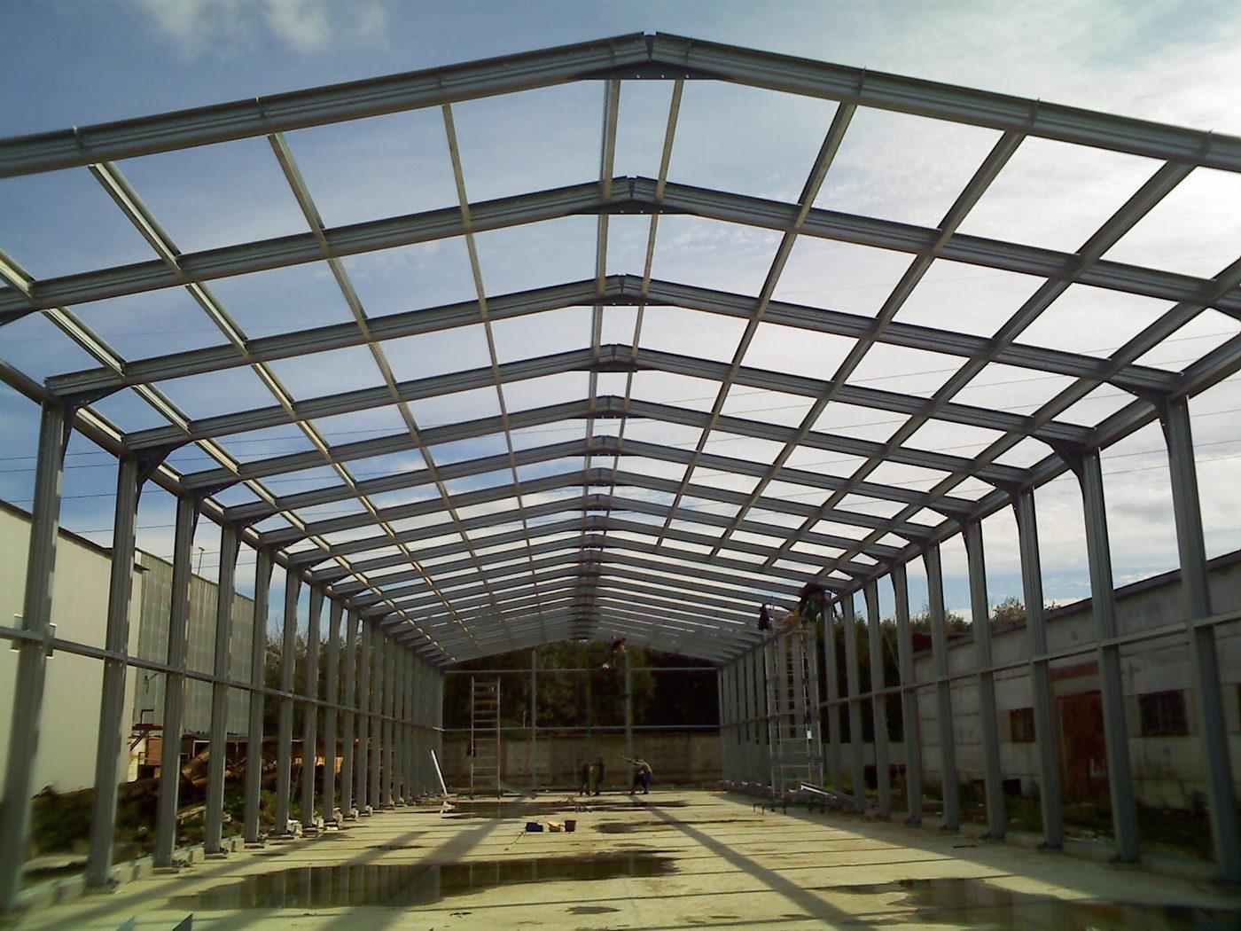 Строительство домов из ЛСТК. Ангар из ЛСТК