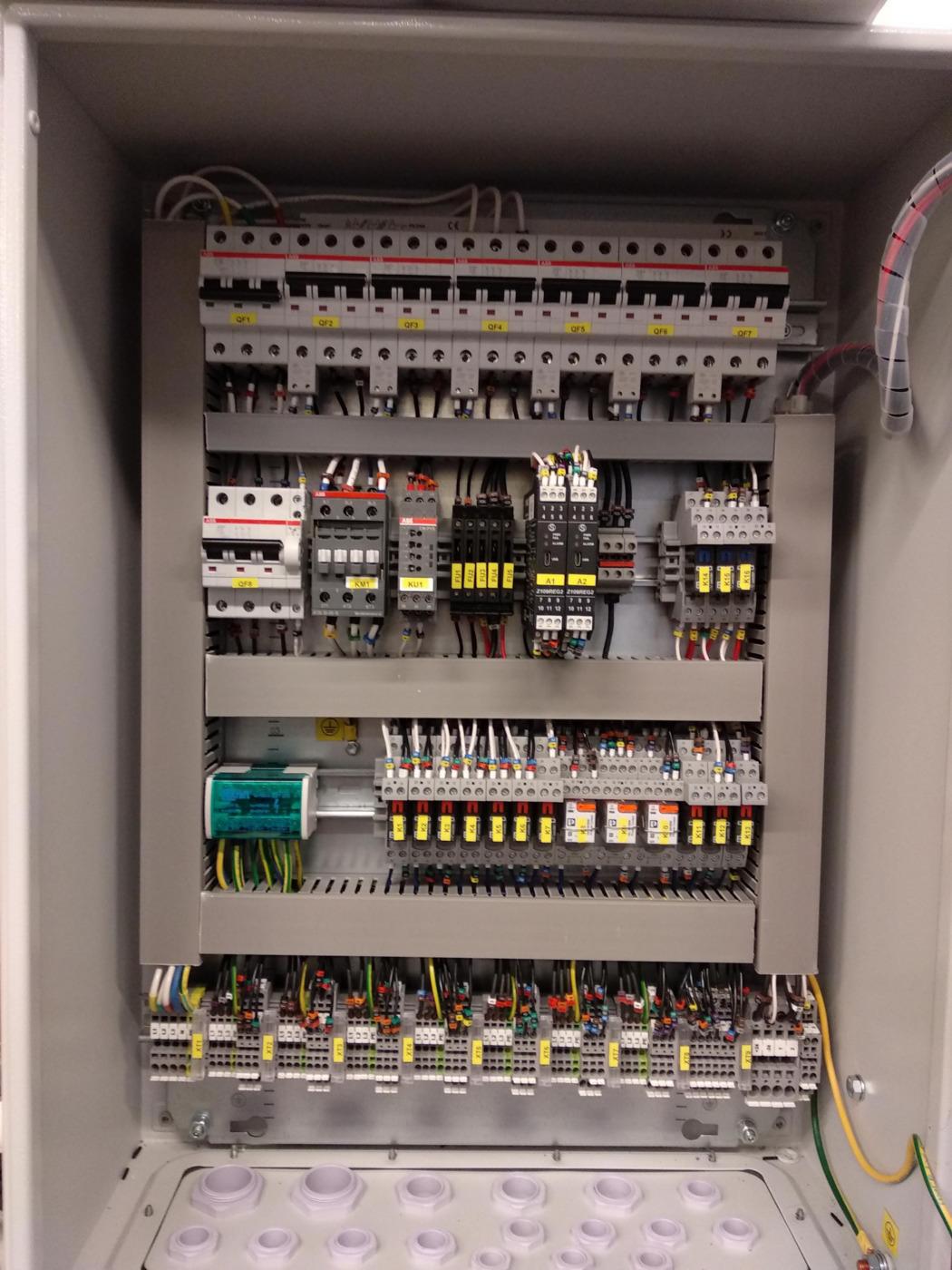 Кабельные и электромонтажные работы. Щит питания оборудования собственных нужд дизель-генераторной установки