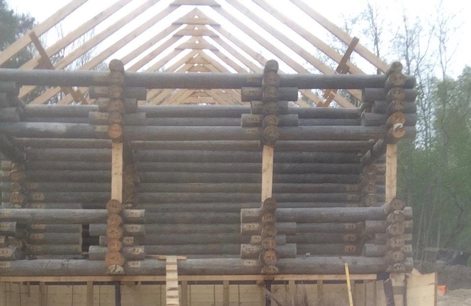 Строительство стен и перегородок. сруб
