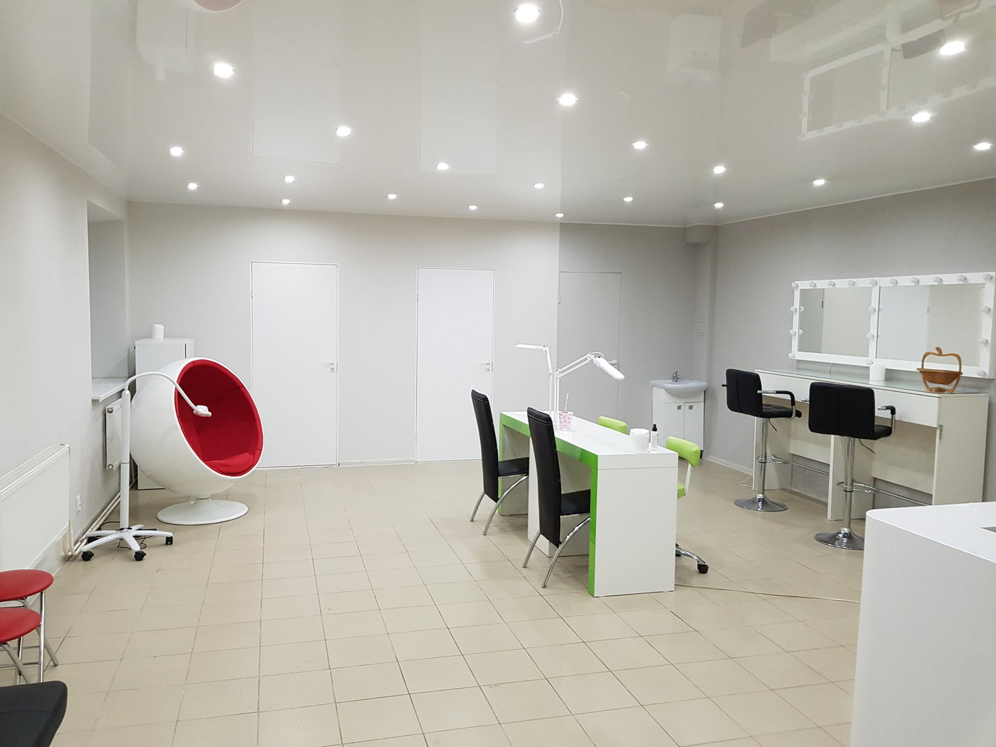 Ремонт офиса. ремонт студии красоты с разработкой дизайна