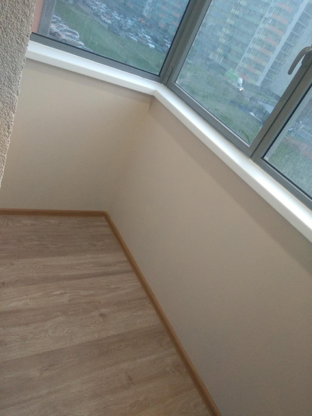 Отделка комнат. Балкон