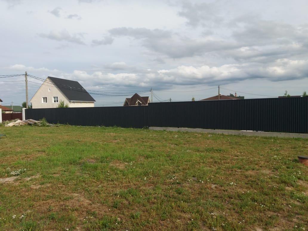 Строительство заборов и ворот. Забор профлист