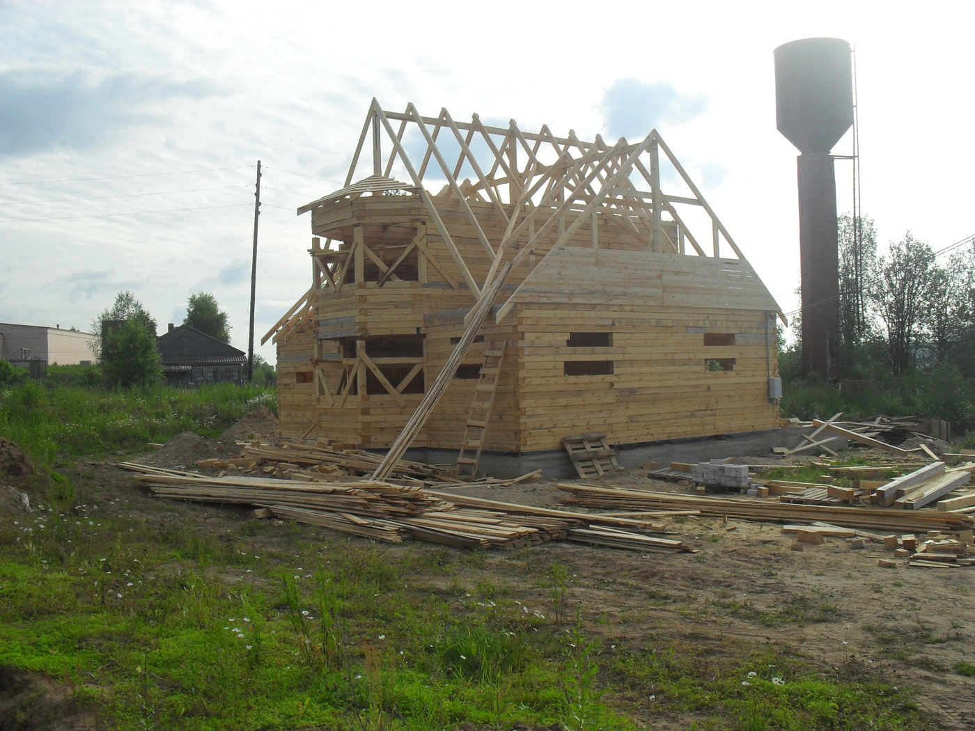 Строительство домов и коттеджей. Дом из бруса