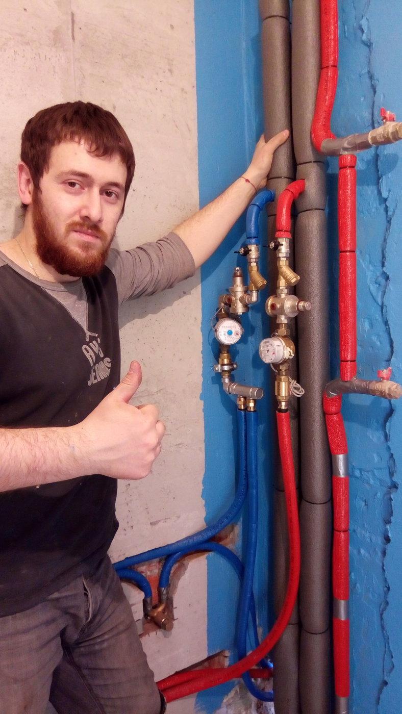 Отопление, водоснабжение и канализация. Разводка труб Rehau.м.Варшавская