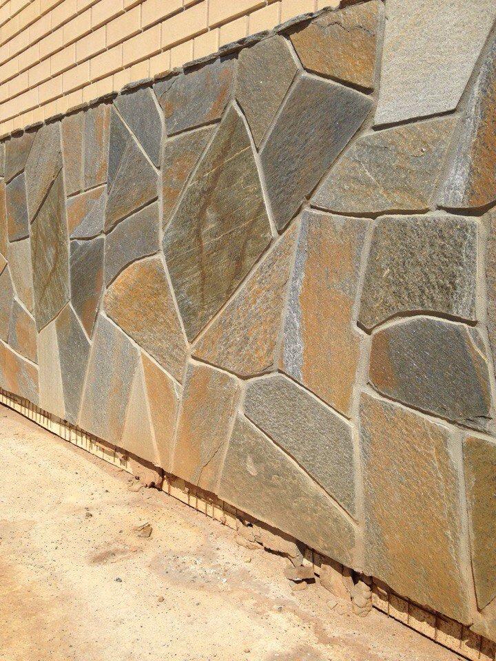 Фасадные работы. Плитняк. Натуральный камень.