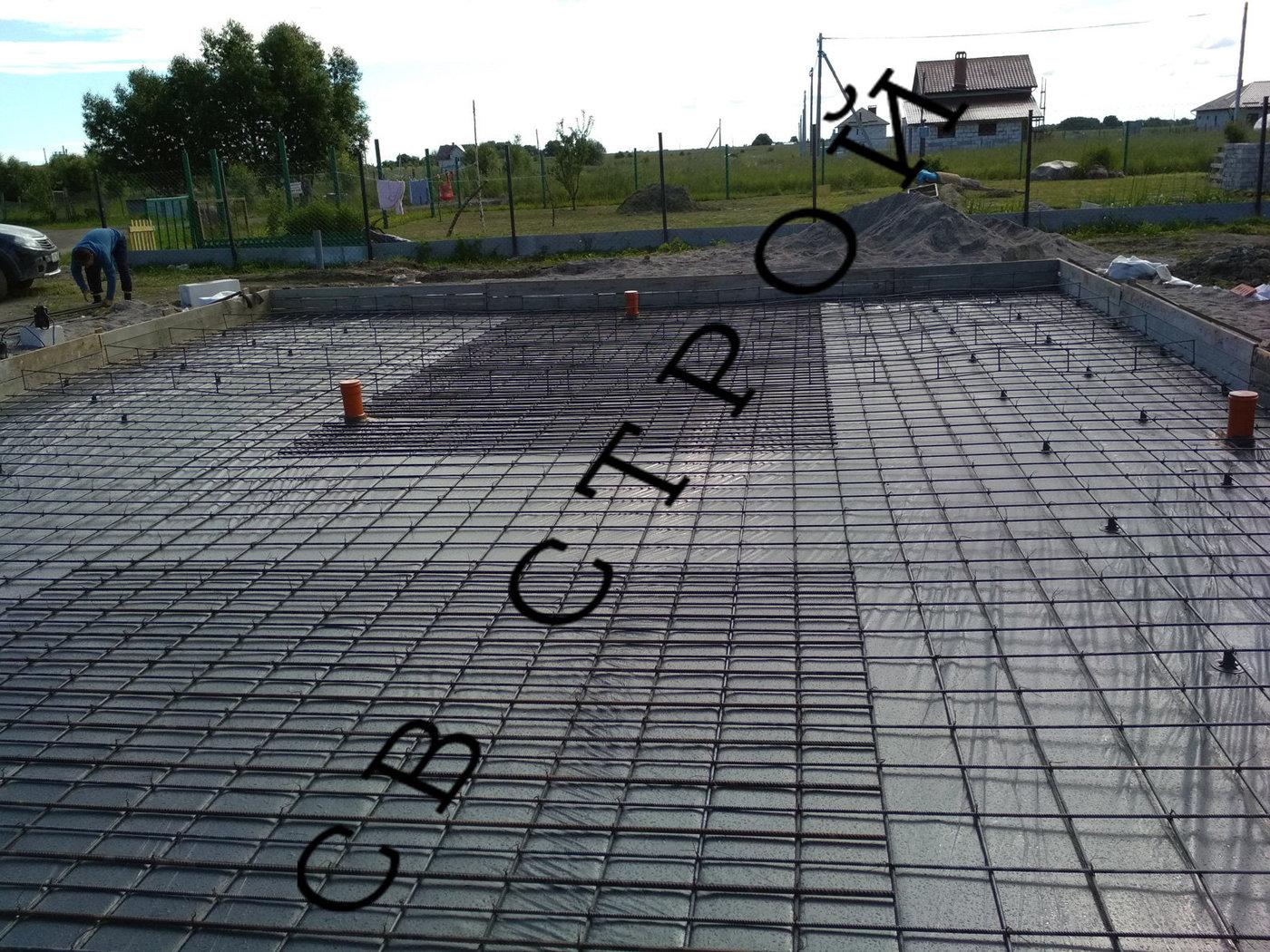 Строительство фундамента. Фундамент в Коврово