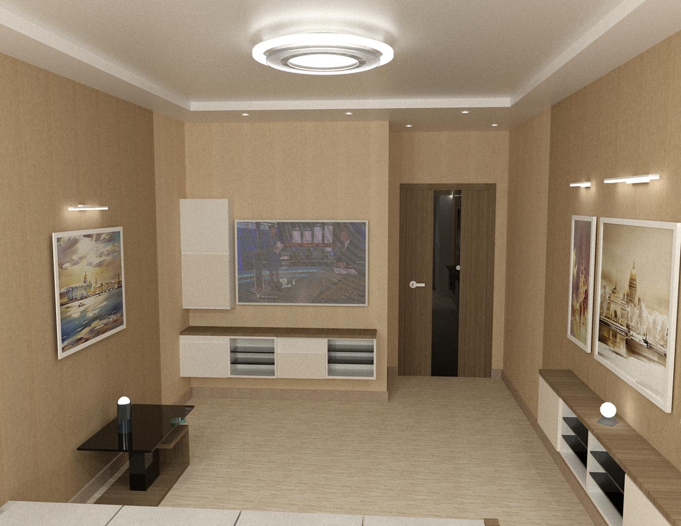 Дизайн и визуализация. Дизайн проект квартиры (ул.Красуцкого, д.3)
