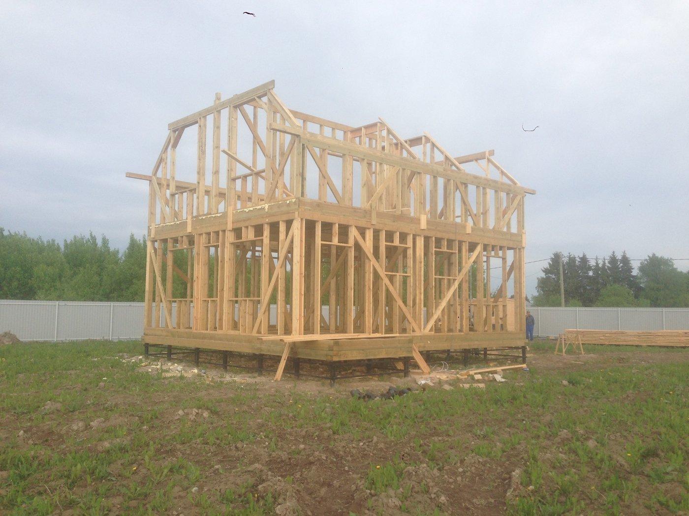 Строительство домов и коттеджей. Каркасный дом
