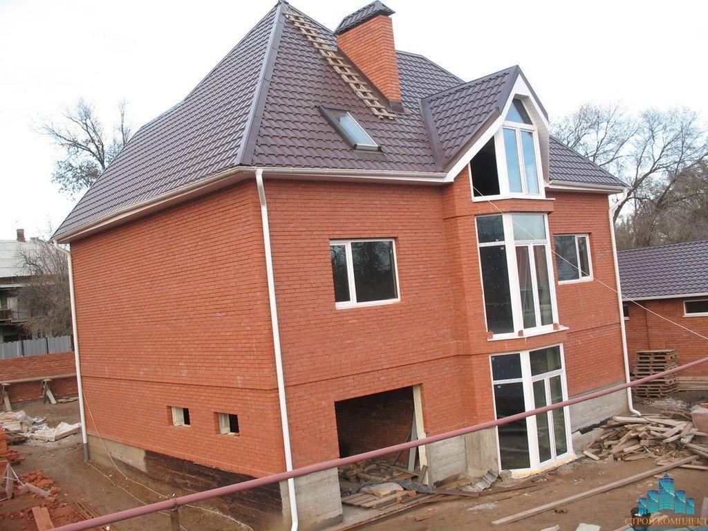 Строительство домов и коттеджей. Дома из кирпича