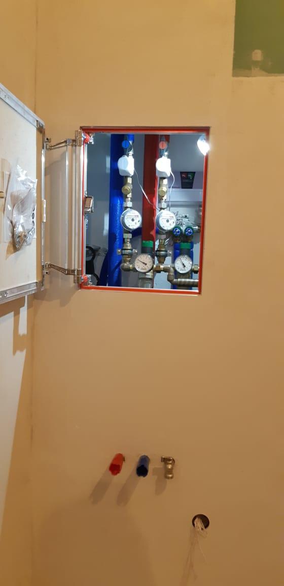 Отопление, водоснабжение и канализация. Входной узел на кухне