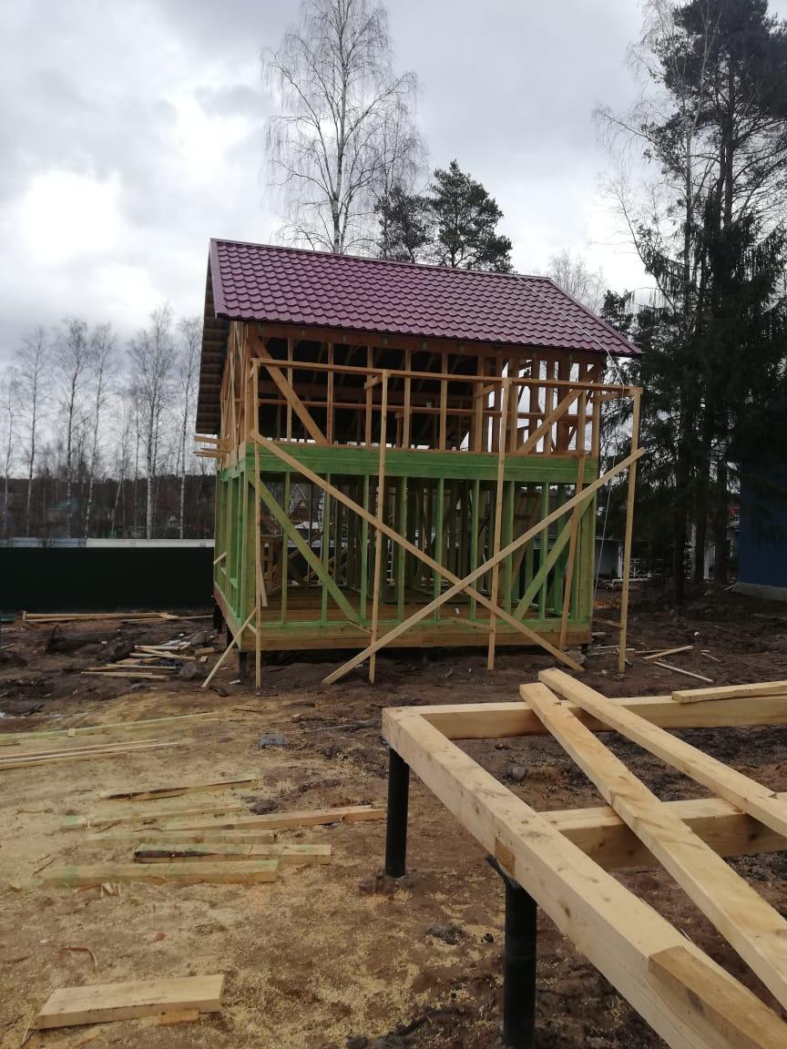 Строительство домов и коттеджей. Строительство каркасных домов.
