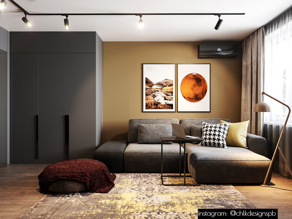 Дизайн‑проект. Дизайн проект однокомнатной квартиры в современном стиле