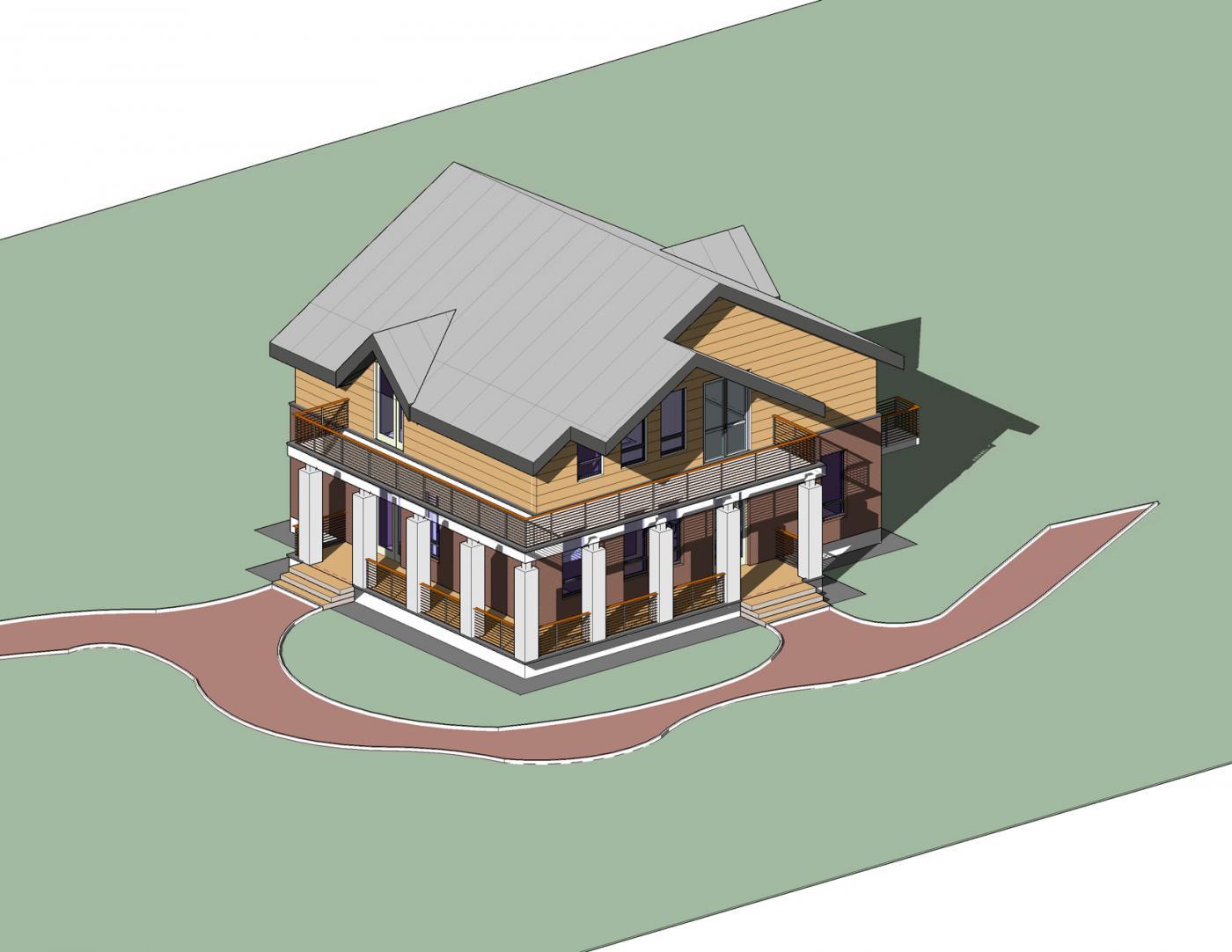 Проектирование и сметы. Индивидуальный жилой дом. Эскиз.РД